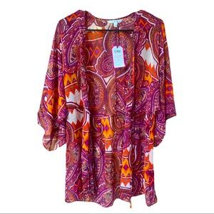 Cabi Paisley Design Swimsuit Cover Up